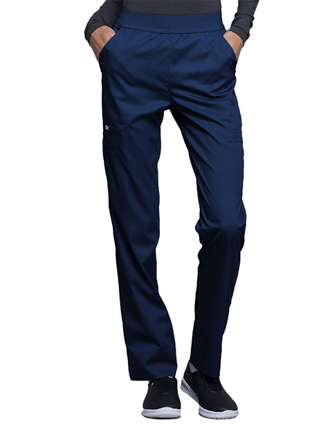 Cherokee Luxe Contemporary Fit Women's Elastic Waist Natural-Rise Tapered Leg Tall Pant