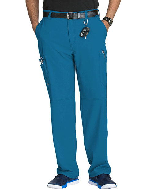 Cherokee Infinity Men's Antimicrobial Fly Front Cargo Petite Pant