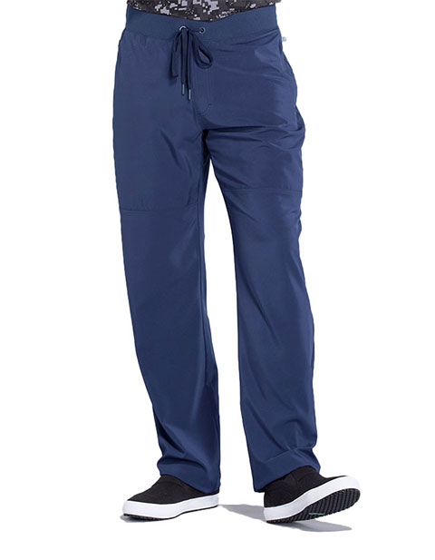Cherokee Infinity Men Knit Waistband Men's Tapered Leg Drawstring Pant