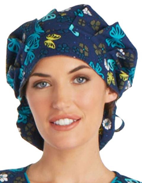 Cherokee Unisex Wing Around The Posy Bouffant Scrub Hat