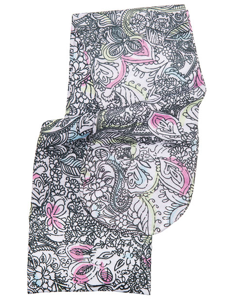 Cherokee Women's Knee Highs Peaceful Paisley 12 mmHg Compression