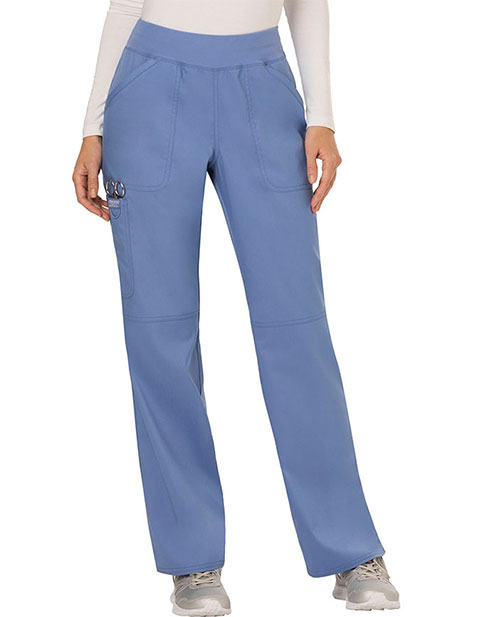 Cherokee Workwear WW Revolution Womens Mid Rise Straight Leg Pull-on Pant