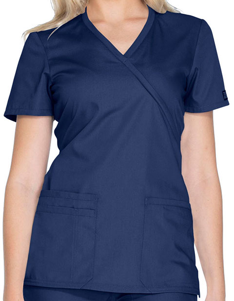 Cherokee Workwear Women's Contemporary Fit Mockwrap Nursing top