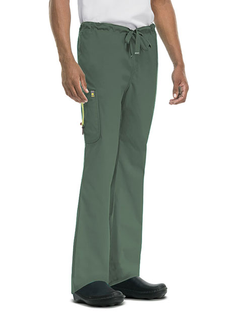 Code Happy Bliss w/ Certainty Men's Drawstring Cargo Scrub Petite Pant