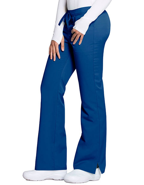 Code Happy Cloud Nine Women's Antimicrobial Mid Rise Moderate Flare Leg Petite Pant