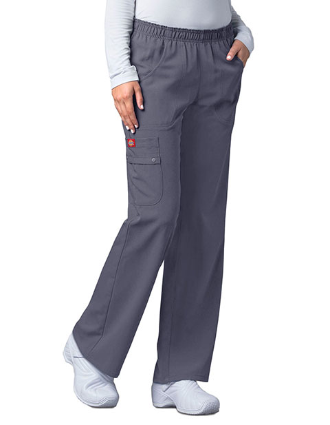 Dickies Xtreme Stretch Junior Elastic Waist Pull On Scrub Pants
