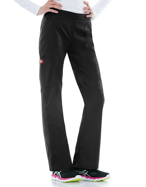 Dickies EDS Signature Stretch Women's Mid Rise Moderate Flare Leg Pull on Pant