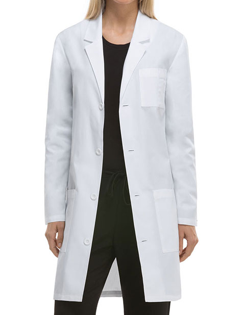 Dickies EDS Professional Whites Unisex Antimicrobial with Fluid Barrier 37 Inches Lab Coat