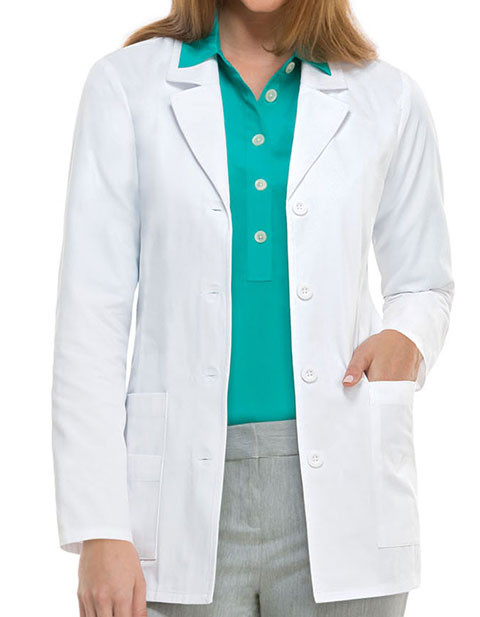 Dickies Missy Fit 29 inch Multi Pocket Short Medical Lab Coat