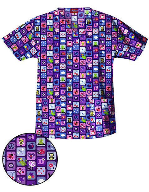 Dickies EDS Missy I'll Bee Your Friend V-Neck Nursing Scrub Top