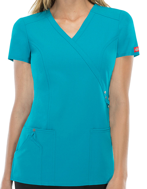 Dickies 85956 Xtreme Stretch Women S Mock Wrap Top For 23