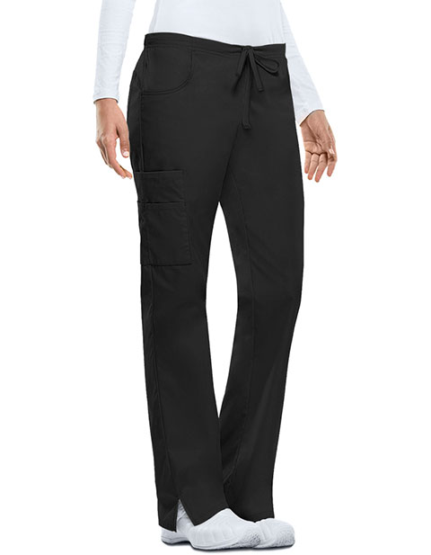 Dickies EDS Women's Missy Fit Mid-Rise Drawstring Cargo Scrub Pant