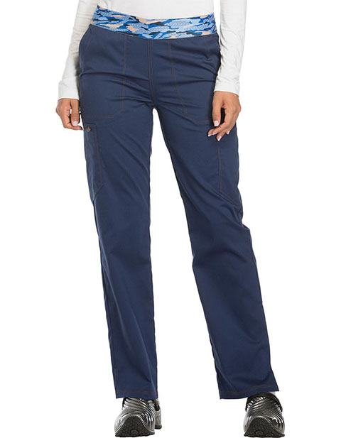 Dickies Essence Women's Mid Rise Tapered Leg Pull-on Petite Pant