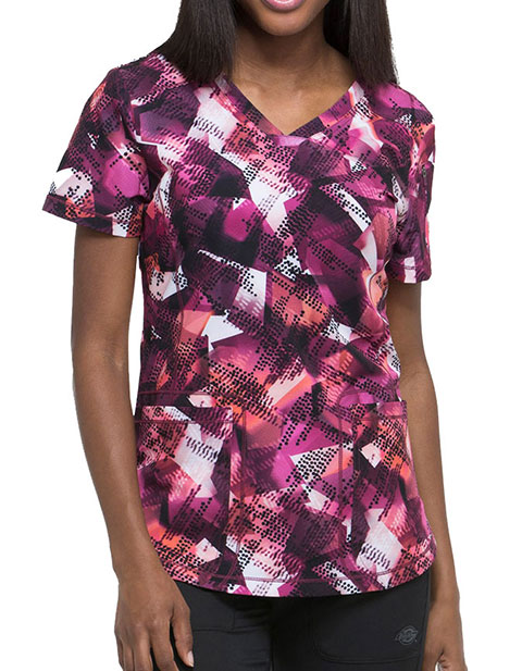 Dickies Women's Going Digital V-Neck Top