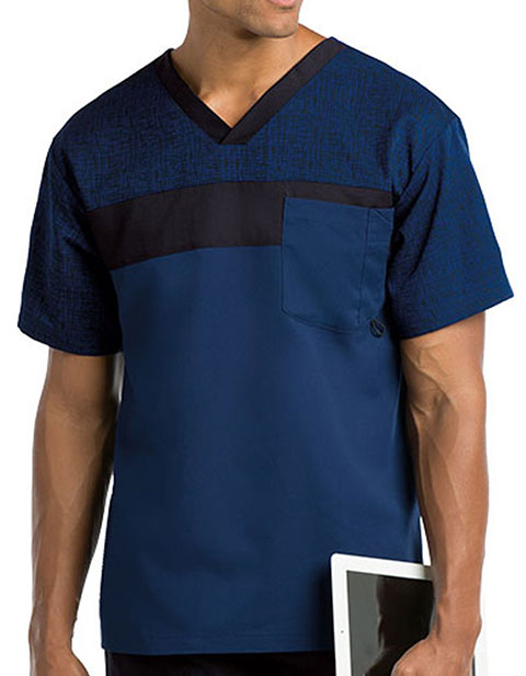 Grey's Anatomy Active Men's Contrast Trim V-neck Top