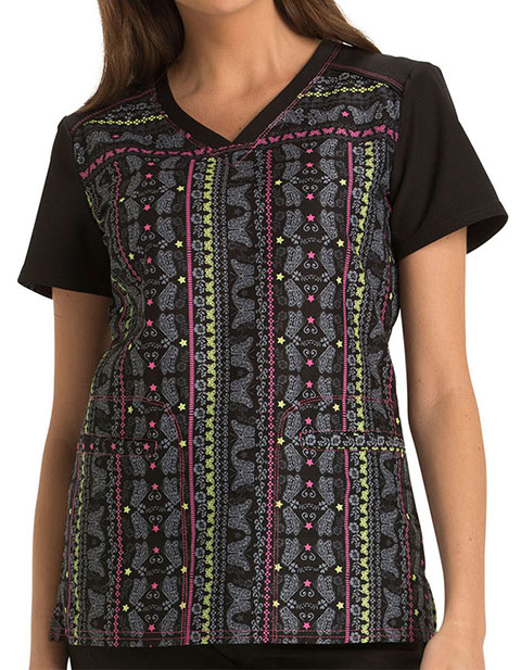 HeartSoul Sugar Fix Women's Fanciful Flight V-Neck Top