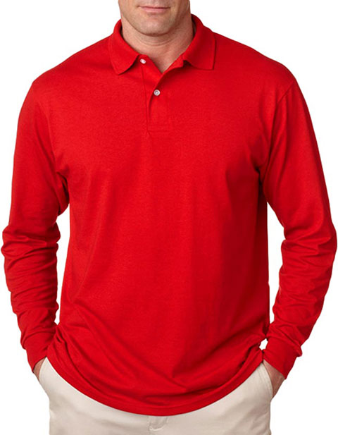 437L Jerzees Adult Long-Sleeve Jersey Polo with SpotShield