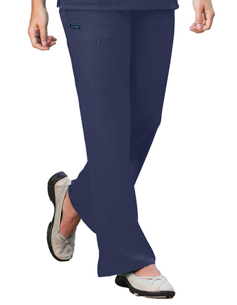 Jockey Scrubs Women Zipper Pocket Flare Medical Pants