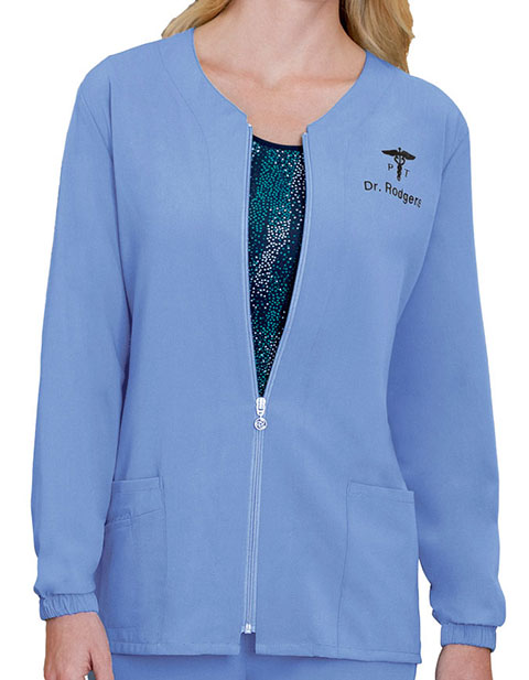Jockey Scrubs Women's Zippered Warm Up Jacket