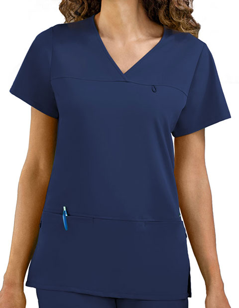 Jockey Scrubs Women's Six Pocket Jewel Neck Scrub Top