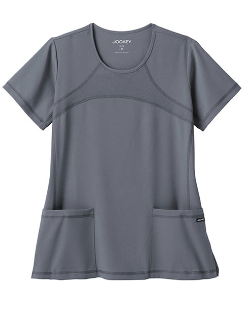 Jockey Women's Mesh Yoke Round Neck Scrub Top