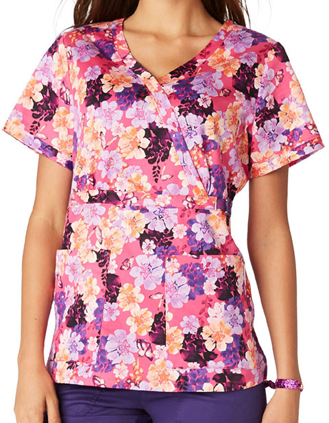 KOI Women's Butterfly Nectar Printed Amy Top