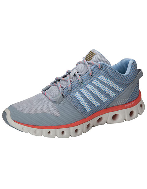 K-Swiss Women's Quarry/BrightWhite/Coral Athletic Tubes Technology Footwear