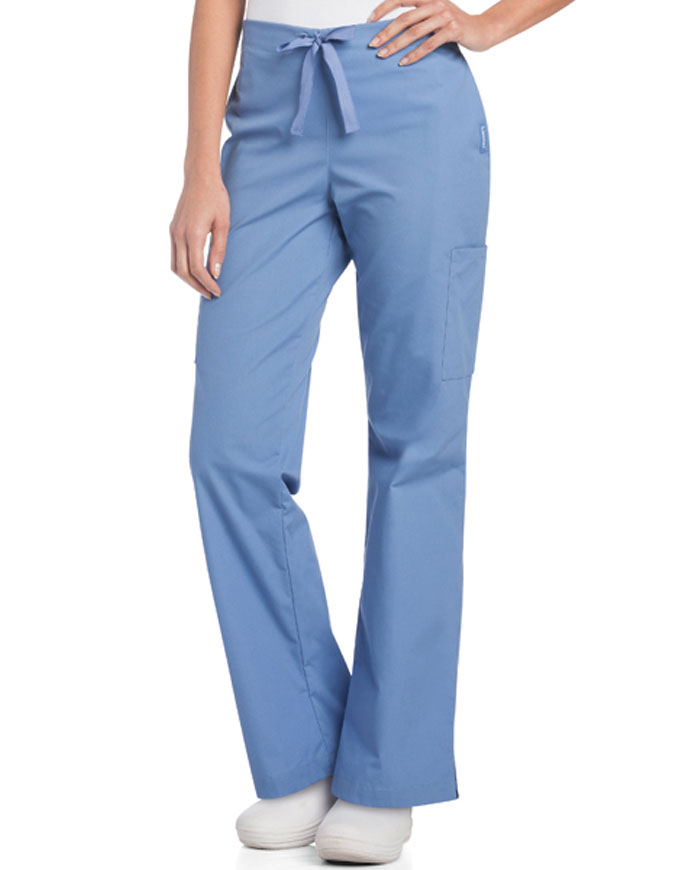 Landau Women's Side Vents Cargo Scrub Pant