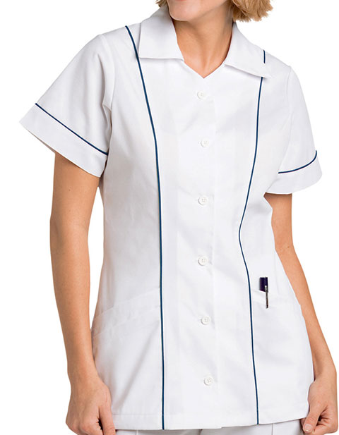 Landau Women Three Pocket Collared Student Nursing Scrub Top