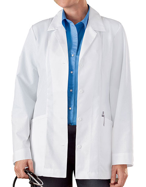 Meta Womens Two Pocket 30 Inches Short Medical Lab Coat
