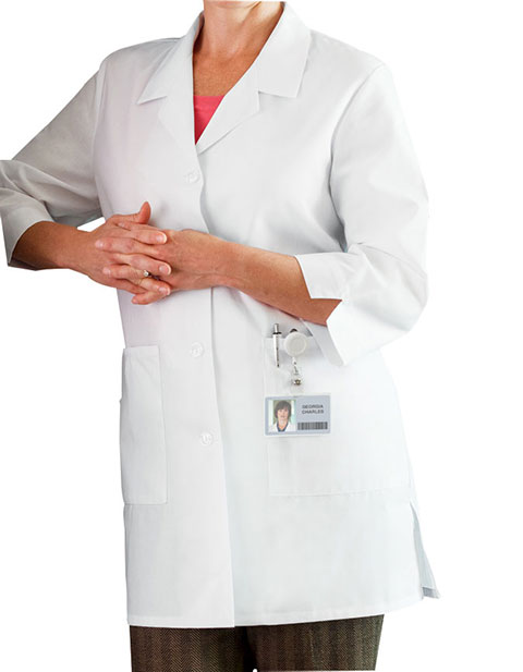 Meta Women's 3/4 Sleeve 33 Inches Short Medical Lab Coat