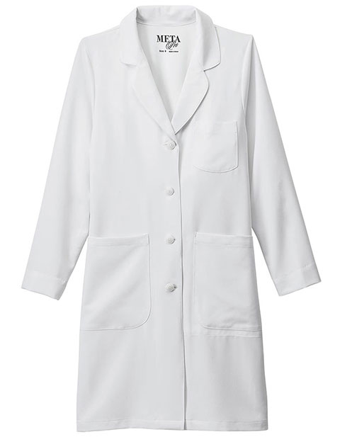 Meta Pro Women's 37 Inches Stretch Long Labcoat