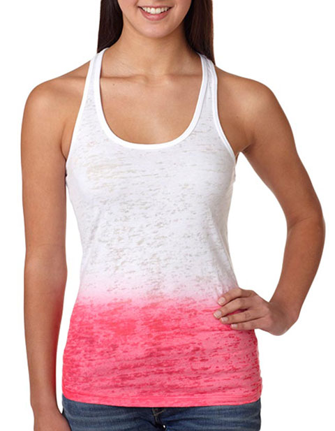 Next Level Ombre Burnout Racerback Tank