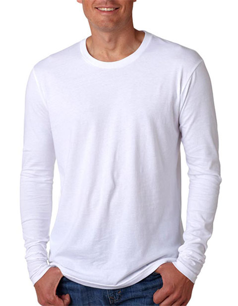 Next Level Premium Fitted Long-Sleeve Crew