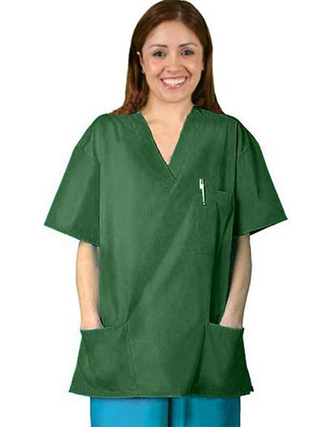 Adar Pro Womens V-Neck Three Pocket Nursing Scrub Top