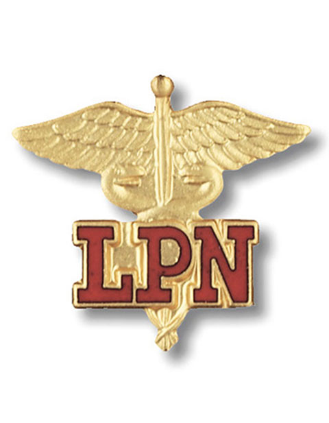 Prestige Gold Plated Licensed Practical Nurse Pin