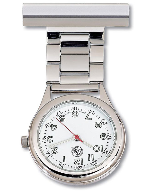 Prestige Lapel Watch With Chrome Case