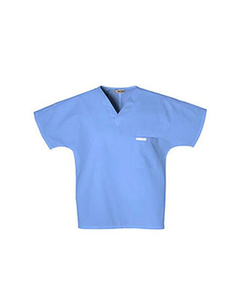 PU Made To Order Unisex V-neck Tunic Nursing Scrub Top