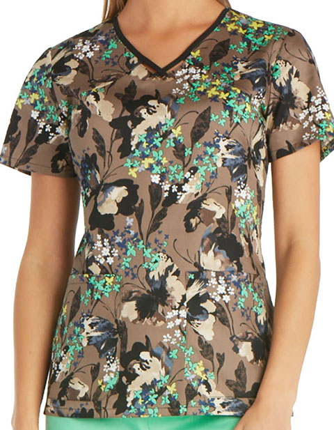 Runway Let's Fly Away Women's Flutter Fantasia Printed Top