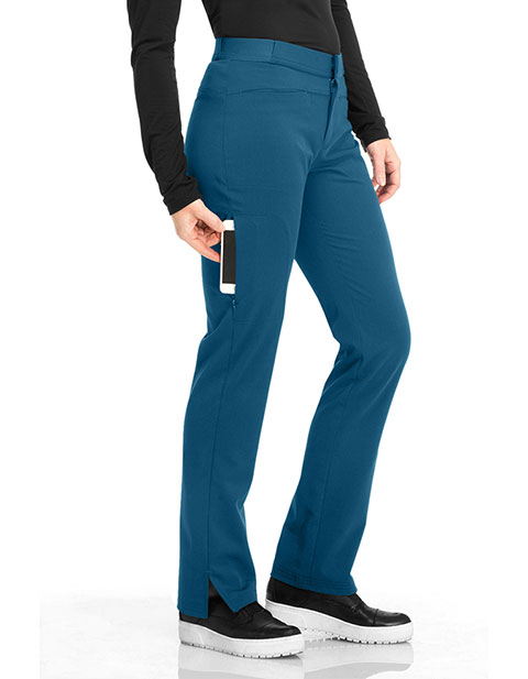 Sapphire Luxury Women's Tall Roma Low Rise Zip Fly Slim Pant