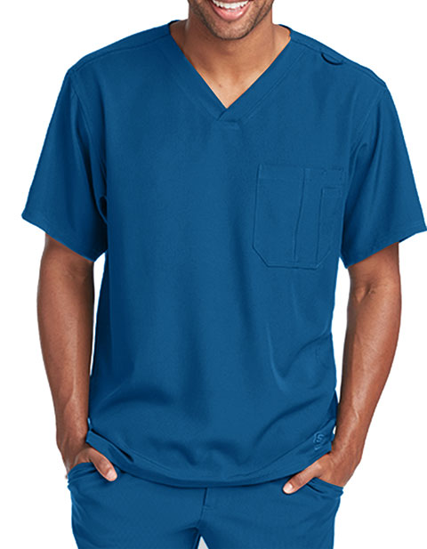 Skechers Men's Structure Crossover V-neck Basic Scrub Top