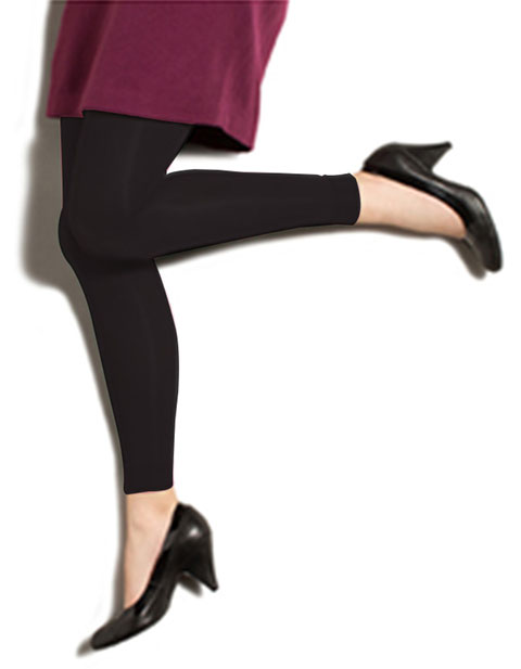 Therafirm Women's 10-15 mmHg Footless Opaque Tights