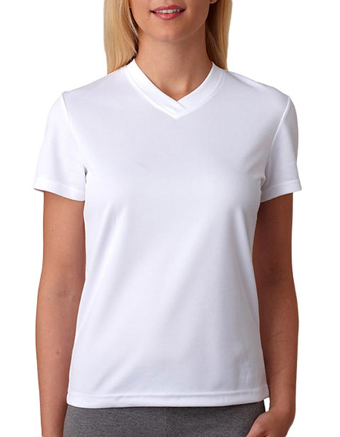 8400L UltraClub® Ladies' Cool & Dry Sport Mesh V-Neck Tee
