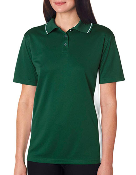 8406L UltraClub® Ladies' Cool & Dry Sport Two-Tone Polo