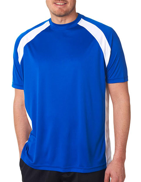 UltraClub® Adult Cool & Dry Sport Two-Tone Performance Tee