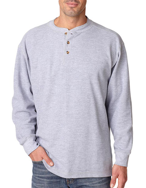 8456 UltraClub® Adult Mini Thermal Henley