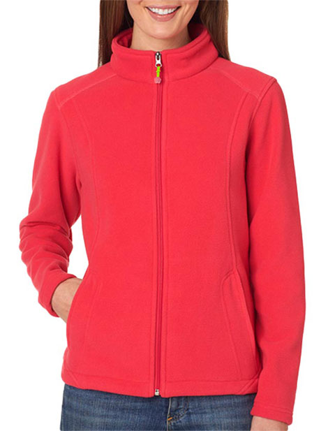 8498 UltraClub® Ladies' Micro Fleece Full-Zip Jacket