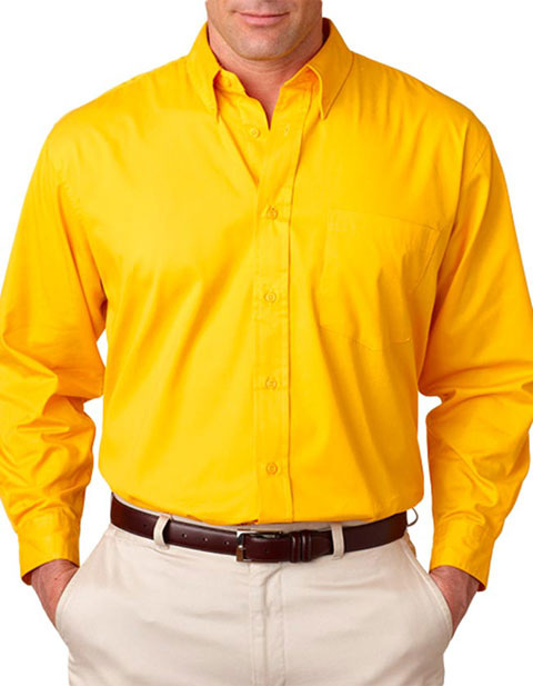 8975 UltraClub® Men's Whisper Twill Shirt
