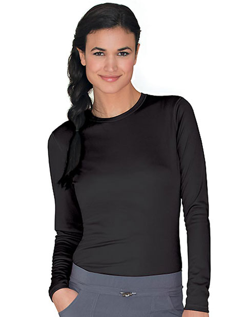 Urbane Women's Long Sleeve Jewel-Neck Energy Tee