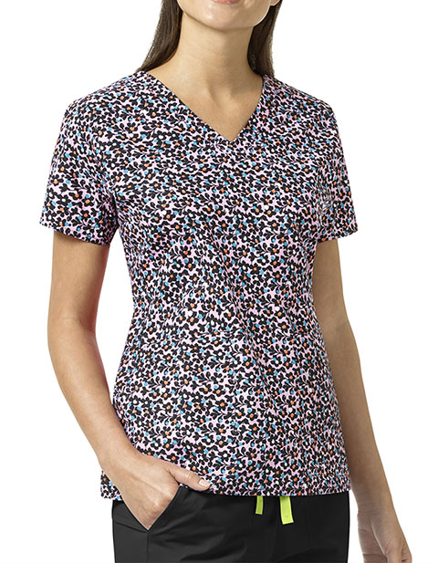 Vera Bradley Signature Women's Floral Ditsy V-neck Printed Top